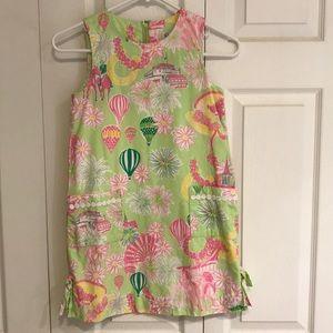 Girls Lilly Pulitzer shift dress size 8